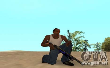 Escopeta con un cachorro de tigre para GTA San Andreas sucesivamente de pantalla