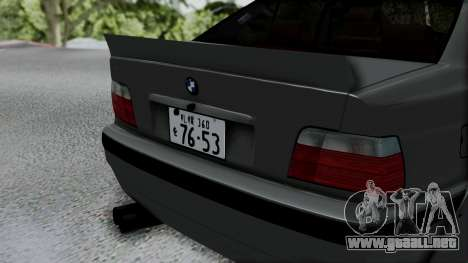 BMW M3 E36 Widebody v1.0 para GTA San Andreas vista hacia atrás