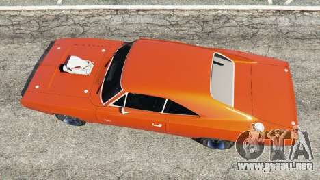 GTA 5 Dodge Charger 1970 Fast & Furious 7 vista trasera