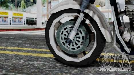 Bike Cop from Bully para GTA San Andreas vista posterior izquierda