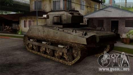 M4 Sherman from CoD World at War para GTA San Andreas left