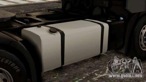 Iveco EuroStar Low Cab para GTA San Andreas vista hacia atrás