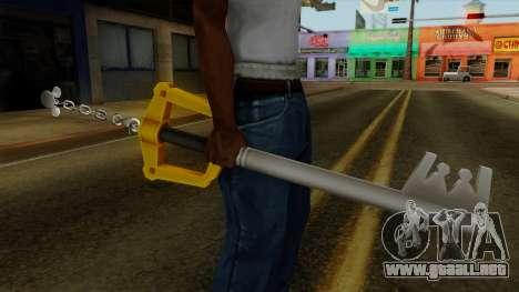 Kingdom Hearts - The Kingdom Key para GTA San Andreas tercera pantalla