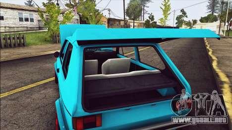 Volkswagen Golf MK1 para vista lateral GTA San Andreas