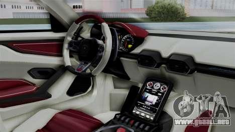 Lamborghini Asterion Concept 2015 v2 para la visión correcta GTA San Andreas