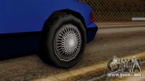 GTA 3 Premier para GTA San Andreas vista posterior izquierda