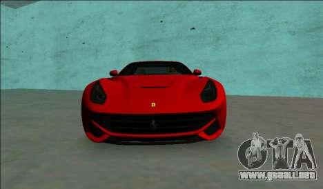 El Ferrari F12 Berlinetta para GTA Vice City visión correcta