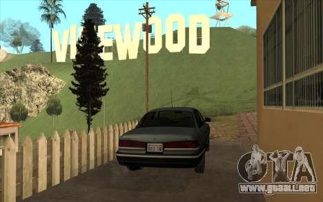 Ford Crown Victoria 1995 SA de Estilo para la visión correcta GTA San Andreas