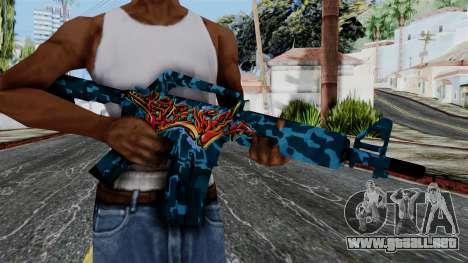 M4A1-S Master Piese para GTA San Andreas tercera pantalla