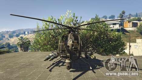 GTA 5 MH-6/AH-6 Little Bird Marine tercera captura de pantalla