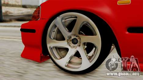 Honda Civic Sedan para GTA San Andreas vista posterior izquierda