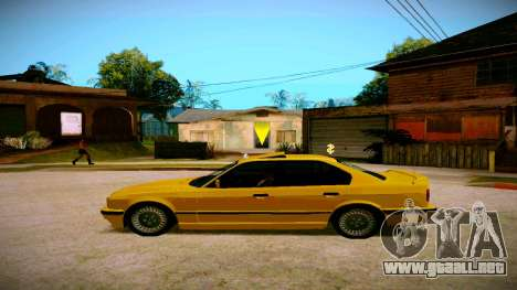 BMW 525tds E34 Russian Taxi para GTA San Andreas left