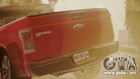 Ford F-150 2015 Stock para la visión correcta GTA San Andreas