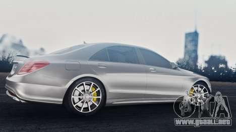 Mercedes-Benz W222 S63 AMG para GTA San Andreas vista hacia atrás