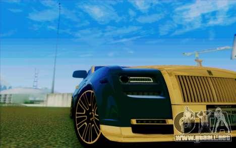 Rolls-Royce Ghost Mansory para la vista superior GTA San Andreas