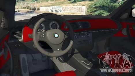 GTA 5 BMW 1M v1.3 vista lateral trasera derecha