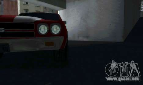 Chevrolet Chevelle SS [Winter] para GTA San Andreas vista posterior izquierda