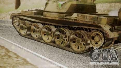 T-55 para GTA San Andreas vista posterior izquierda