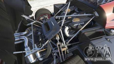 GTA 5 Pagani Huayra 2013 vista lateral derecha