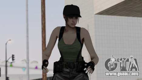 Resident Evil Remake HD - Jill Valentine (Army) para GTA San Andreas