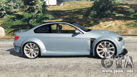 GTA 5 BMW M3 (E92) WideBody v1.0 vista lateral izquierda