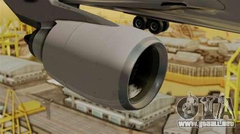 Airbus A310-300 Philippine Airlines Livery para la visión correcta GTA San Andreas