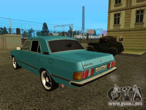 GAS 3102 Volga para GTA San Andreas vista posterior izquierda