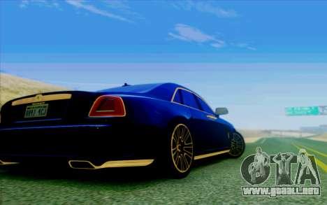Rolls-Royce Ghost Mansory para visión interna GTA San Andreas