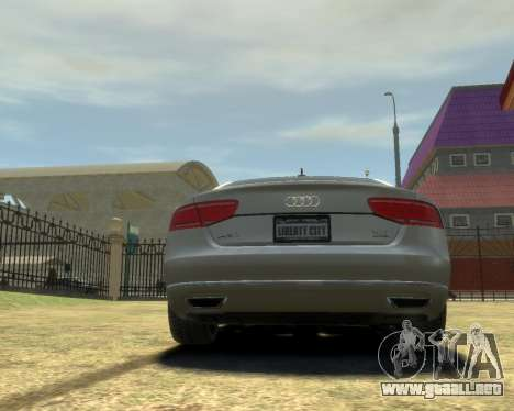 Audi A8L W12 2013 para GTA 4 visión correcta