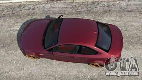 GTA 5 BMW 1M v1.3 vista trasera