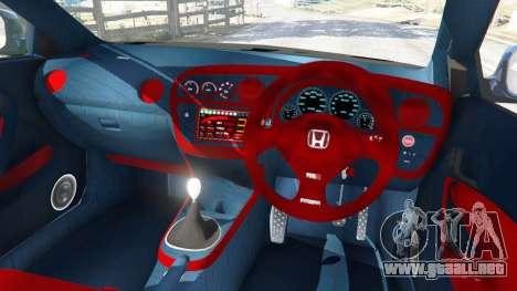 GTA 5 Honda Integra Type-R with license plate vista lateral derecha