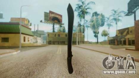 GTA 5 Machete (From Lowider DLC) para GTA San Andreas segunda pantalla