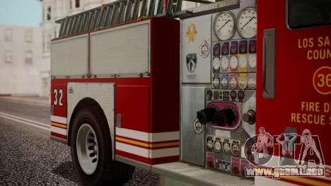 GTA 5 MTL Firetruck IVF para la visión correcta GTA San Andreas