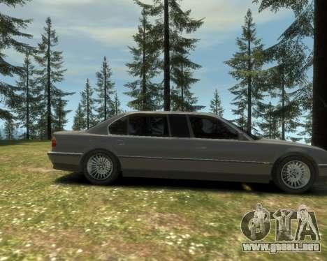 BMW L7 (750IL E38) 2001 para GTA 4 vista hacia atrás