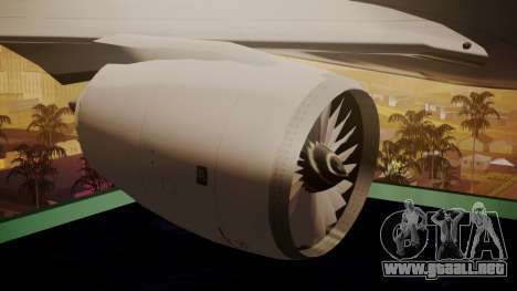 Airbus 350-900XWB Around The World para la visión correcta GTA San Andreas