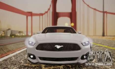 Ford Mustang GT 2015 Stock para GTA San Andreas vista hacia atrás