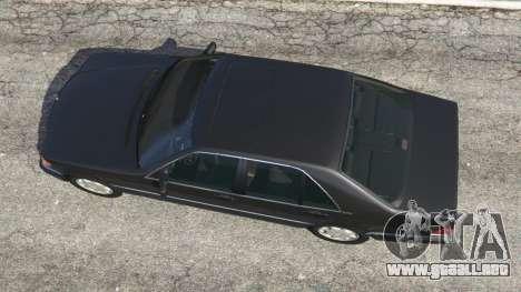 GTA 5 Mercedes-Benz S600 (W140) vista trasera