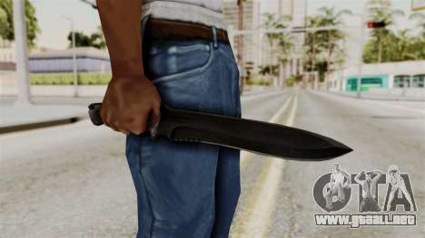 Knife from RE6 para GTA San Andreas tercera pantalla