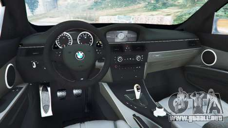 GTA 5 BMW M3 (E92) WideBody v1.0 vista lateral trasera derecha
