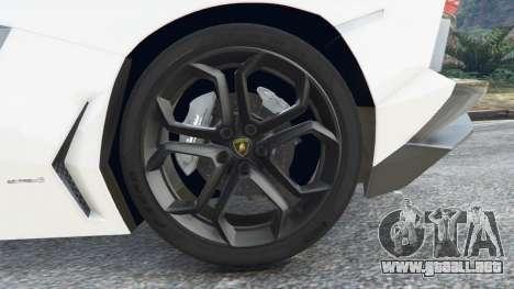 GTA 5 Lamborghini Aventador LP700-4 Police v4.5 vista lateral trasera derecha