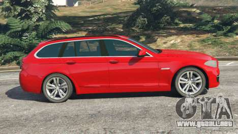 GTA 5 BMW 525d (F11) Touring 2015 (UK) vista lateral izquierda