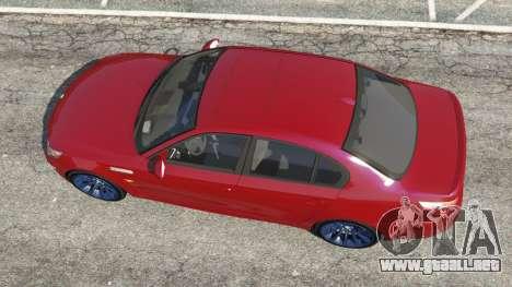GTA 5 BMW M5 (E60) 2006 vista trasera