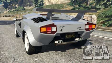 Lamborghini Countach LP500 QV 1988 v1.2 para GTA 5