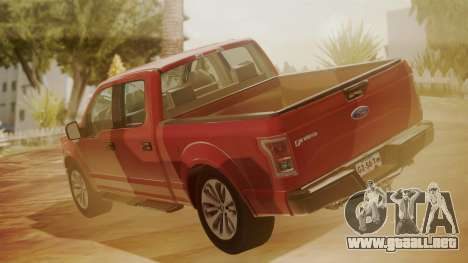 Ford F-150 2015 Stock para GTA San Andreas left