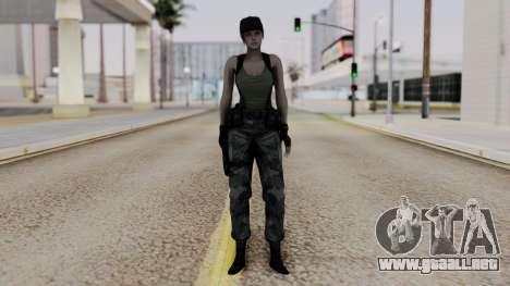 Resident Evil Remake HD - Jill Valentine (Army) para GTA San Andreas segunda pantalla