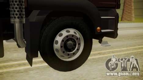 MAN TGS 8x4 Dumper para GTA San Andreas vista posterior izquierda