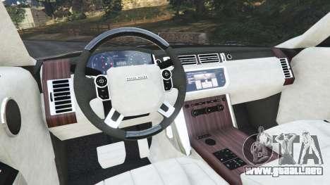GTA 5 Range Rover Vogue 2013 v1.2 vista lateral trasera derecha