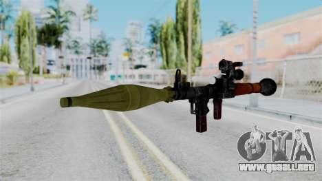 Rocket Launcher from RE6 para GTA San Andreas segunda pantalla