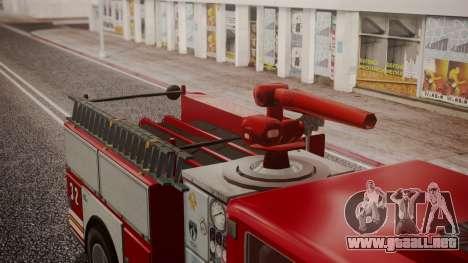 GTA 5 MTL Firetruck IVF para GTA San Andreas vista hacia atrás