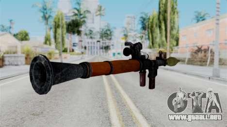 Rocket Launcher from RE6 para GTA San Andreas tercera pantalla